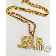 Fashion Jesus Statement Gold Pendant and Necklace | Jewelry for sale in Lagos State, Surulere