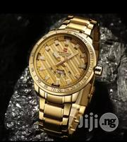 Naviforce Simple Men Gold Wristwatch | Watches for sale in Lagos State, Ikeja