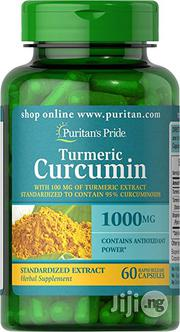 Turmeric Curcumin 1000 Mg With Bioperine 5 Mg - 60 Capsules | Vitamins & Supplements for sale in Lagos State, Lekki Phase 1
