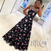 Luxury Retro High-end Dress Long Skirt Mesh Embroidery Dress | Clothing for sale in Lagos State, Ikeja