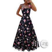 Black Women's Explosion High-end Long Skirt Mesh Embroidery Dress | Clothing for sale in Lagos State, Ikeja