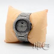 Fashion Men's Iced Stones Strap Bracelet Watch- Silver | Jewelry for sale in Lagos State, Ikeja