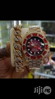 Rolex Wrist Watch and Hand Wristband Is Available for Men | Watches for sale in Lagos State, Ikeja