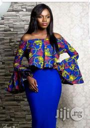 Ankara Blouse With Blue Skirt | Clothing for sale in Lagos State, Ojodu