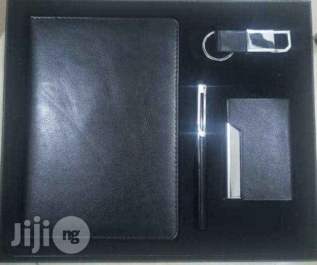 Archive: Corporate Gift Pack- Pen, Note Pad, Card Holder And Key Holder-black