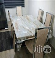 Unique Quality Marble Dining Table With 6 Strong Leather Chairs   Furniture for sale in Lagos State, Lekki Phase 1