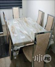 Strong and Quality Marble Dining Table With 6 Reliable Leather Chairs   Furniture for sale in Lagos State, Lekki Phase 1
