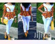 Ankara Mix With Plain White Material | Clothing Accessories for sale in Lagos State, Ojodu