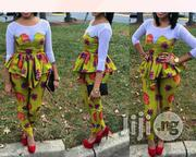 Plain Mix Ankara Trouser Top | Clothing for sale in Lagos State, Ojodu