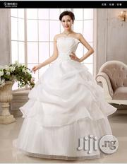 Top New Organza Women's White Qi Bride Wedding Dress | Wedding Wear for sale in Lagos State, Ikeja
