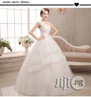 White Qi Banded Female Style Wedding Dress | Wedding Wear for sale in Lagos State, Ikeja
