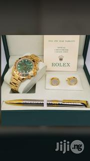 Rolex Oyster Perpetual Chronograph Pen and Cufflinks Buttons | Stationery for sale in Lagos State, Surulere