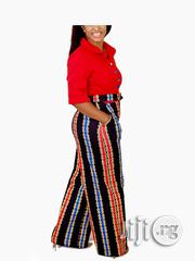 Red Short Sleeve Top Ladies Jumpsuit | Clothing for sale in Lagos State, Ikoyi