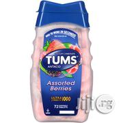 Tums Antacid Chewable Tablets For Heartburn Relief, Assorted Berries, 72 Tablets | Vitamins & Supplements for sale in Lagos State, Lagos Mainland