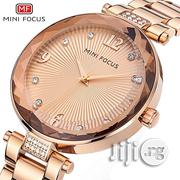 Minifocus Top Brand Luxury Quartz Rose Gold Watch Gift for Famale   Watches for sale in Lagos State, Ikeja