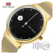 Quartz Stainless Minifocus Steel Gold Wristwatch | Watches for sale in Lagos State, Ikeja