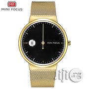 Minifocus Business Casual Quartz Stainless Steel Gold Wrist Watch | Watches for sale in Lagos State, Ikeja