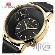 Minifocus Black Sport Casual Wristwatch Double Dial Watches   Watches for sale in Lagos State, Ikeja