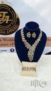 Bold Silver Touch of Red Owanbe Jewelry Set | Jewelry for sale in Lagos State, Ajah