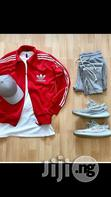 Adidas Track Suit And Face Cap With Sneaker Shoes   Shoes for sale in Ikeja, Lagos State, Nigeria