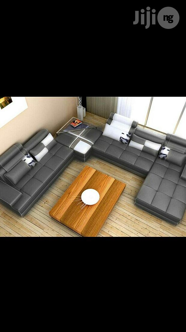 U Shape Sofa With Relaxing Attached
