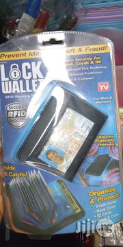 LOCK WALLET Fraud Blocking RFID Wallets For Black Multi Card Wallet | Bags for sale in Lagos State, Mushin
