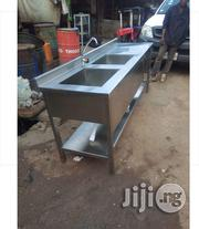 Stainless Work Table With 2 Industrial Sink | Restaurant & Catering Equipment for sale in Lagos State, Surulere