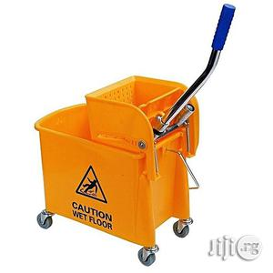Mop Bucket With Wringer & Wheels