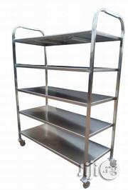5 Steps Stainless Bread Shelve/ Food Trolley | Restaurant & Catering Equipment for sale in Lagos State, Surulere