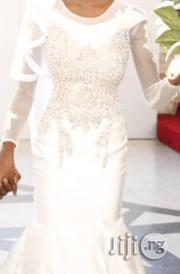 Size 6 Beaded Panel Mermaid Wedding Dress For Sale | Wedding Wear for sale in Rivers State, Port-Harcourt
