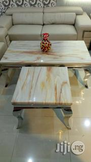 Quality Marble Centre Table And 2 Stools | Furniture for sale in Lagos State, Ojodu