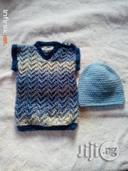 Crocheted Baby Vest With Matching Beanie | Children's Clothing for sale in Lagos State, Yaba