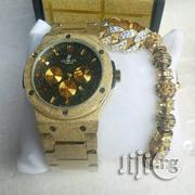Hublot Gold Watch With Bangle and Ring | Watches for sale in Lagos State, Surulere