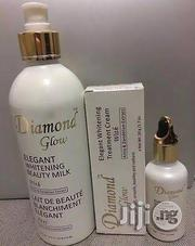 Diamond Glow Elgant Lightening Beauty Milk, Serum Cream Tube | Skin Care for sale in Lagos State, Ojo