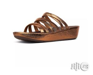 Linny Leather Criss Cross Slides
