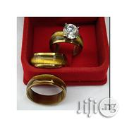 Fashion Gold Plated Brazilian Steel Wedding Ring Set | Wedding Wear for sale in Lagos State, Surulere
