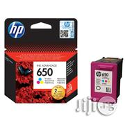 HP 650 Tri-Colour Ink Cartridge | Accessories & Supplies for Electronics for sale in Lagos State, Ikeja