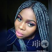 Ghana Weaving Box Braid With Lace Closure - Grey | Wedding Wear for sale in Lagos State, Isolo