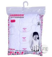 3in1 Girls Singlets - White | Children's Clothing for sale in Lagos State, Mushin