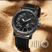 Naviforce Black Leather Numeric Men Wristwatch | Watches for sale in Lagos State, Ikeja