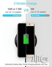 Baseus Qi Wireless Fast Charger-Transparant | Accessories for Mobile Phones & Tablets for sale in Lagos State, Ikeja
