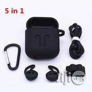 5in1 Airpod 2 Protective Silicone Pouch+Watch Strap And Earpiece Cover | Headphones for sale in Lagos State, Ikeja