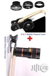 Camera Phone Len 3 In 1 + Mobile Phone Telescope Camera | Accessories for Mobile Phones & Tablets for sale in Lagos State, Ikeja