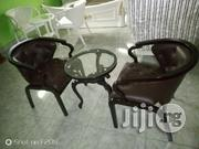 Quality Brown Console Chair With Table | Furniture for sale in Lagos State, Ojo
