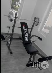 Weight Lifting Bench With 50 Kg Plate and Barbell   Sports Equipment for sale in Abuja (FCT) State, Wuse 2