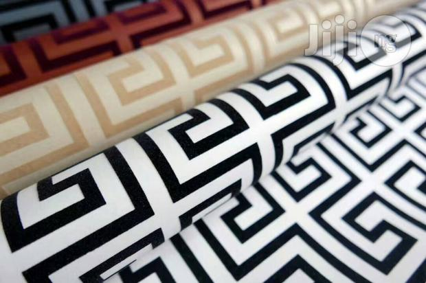 Fendi 3D Wallpaper(White & Black