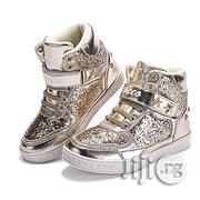 Coeec Gold Hightop Canvas | Children's Shoes for sale in Lagos State, Lagos Mainland