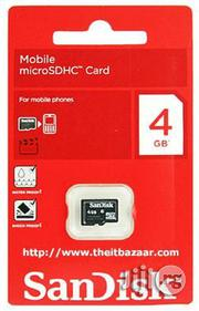 Sandisk 4gb Sd Card | Accessories & Supplies for Electronics for sale in Lagos State, Ilupeju