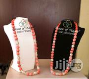Long Coral Beaded Women Necklace Jewelry | Jewelry for sale in Lagos State, Lagos Island