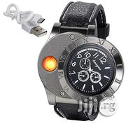 Men Digital USB Cigarette Lighter Watch Novelty Windproof | Watches for sale in Lagos State, Ikeja